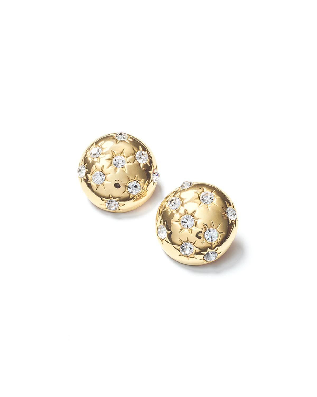 Fallon Accessories STARBURST DECO BUTTON EARRINGS