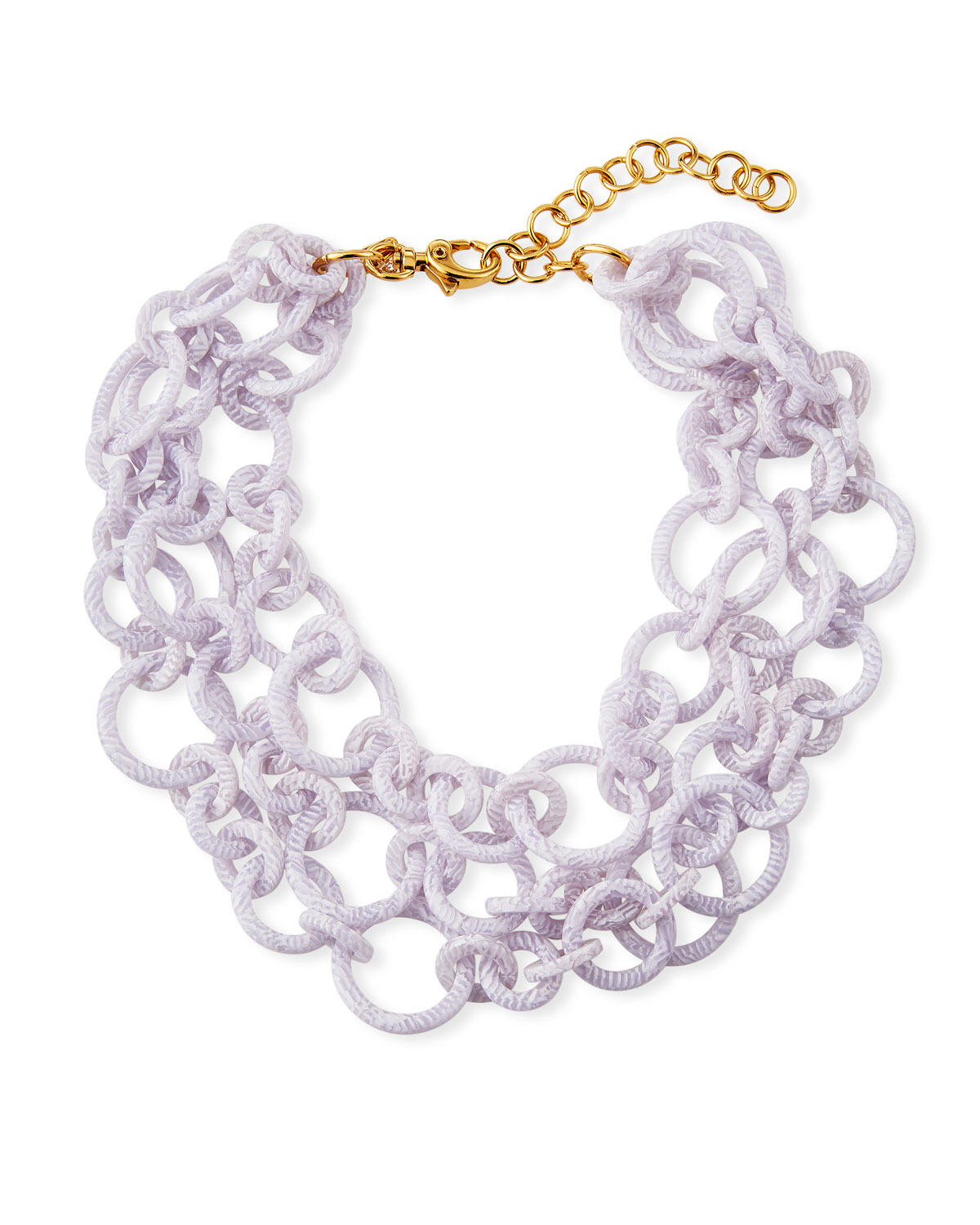 Lele Sadoughi Jewelries BROADWAY 3-LAYER NECKLACE, WHITE
