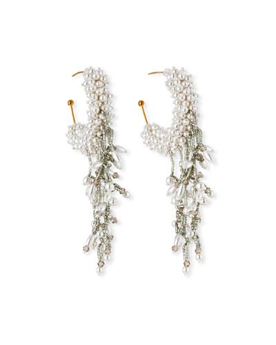 Mini Blair Pearly Hoop Dangle Earrings