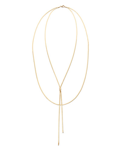 14k Gold Herringbone Blake Necklace