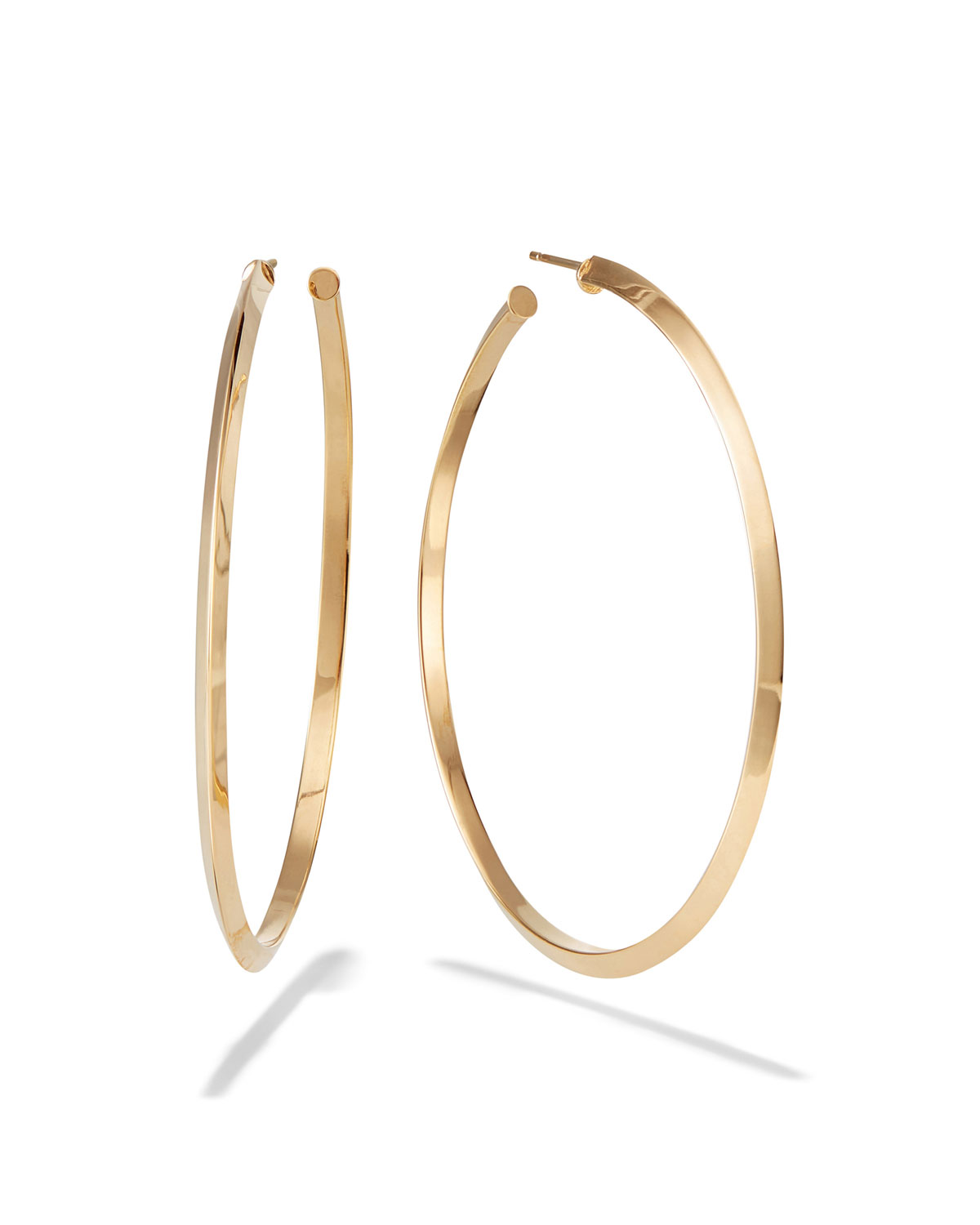Lana  14K GOLD KNIFE-EDGE HOOP EARRINGS