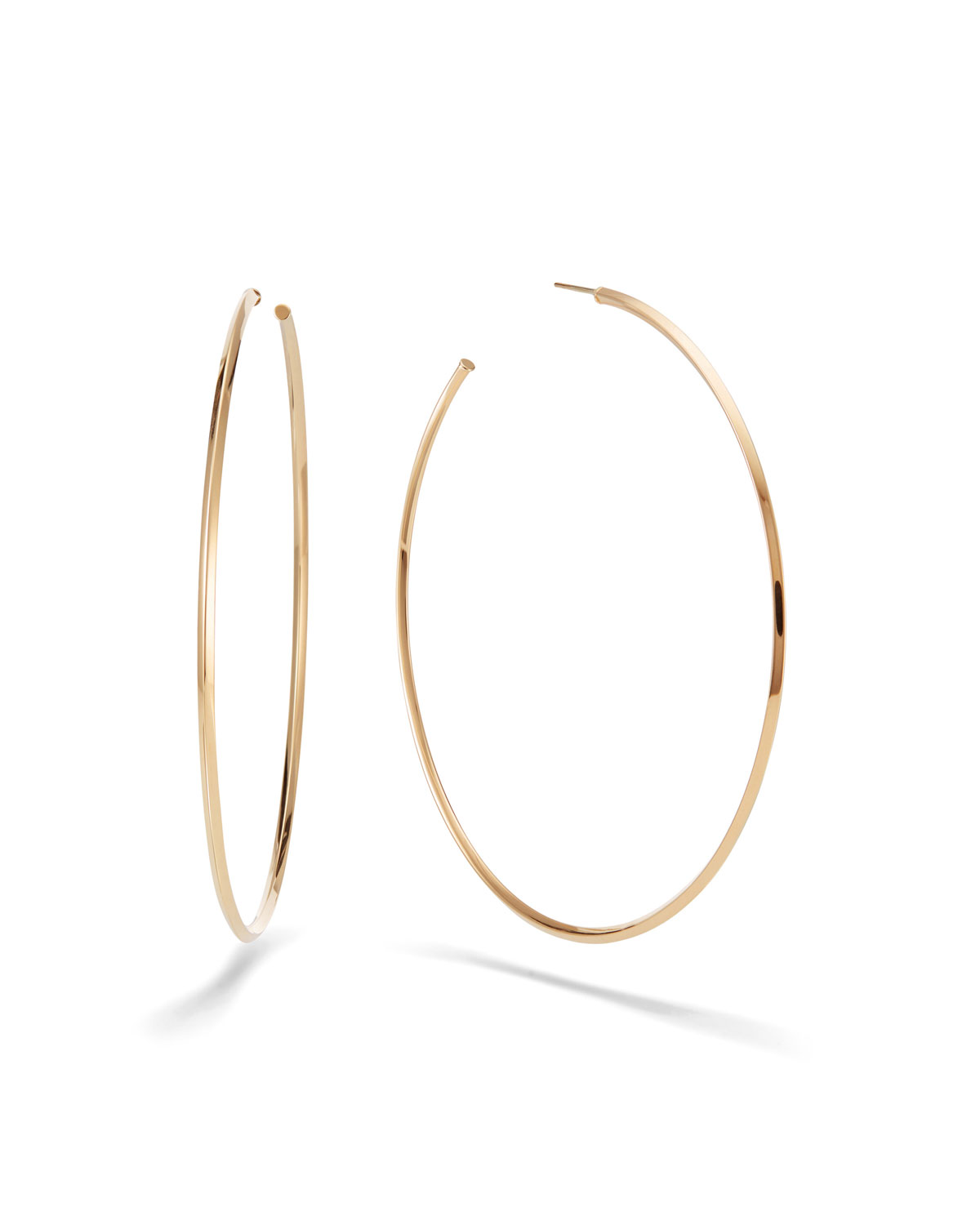 Lana  HOLLOW 14K GOLD SKINNY HOOP EARRINGS