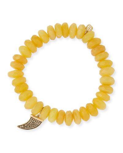 7a1e1501bae28 14k Medium Diamond Horn   Opal Bracelet