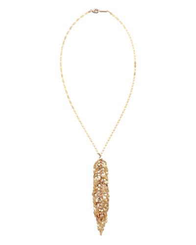 14k Gold Mini Fringe Lariat Necklace