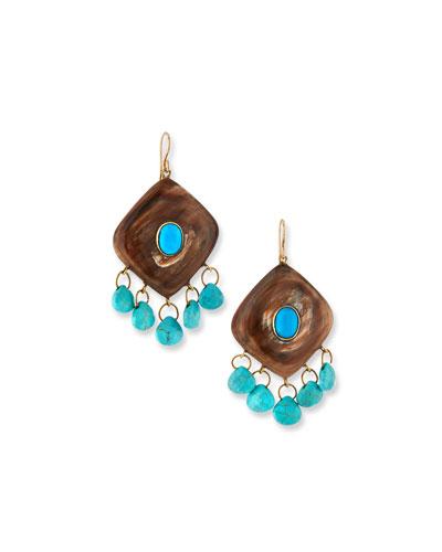 Kingo Drop Earrings w/ Turquoise