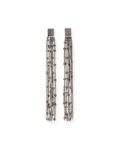 Monili & Argento Fringe Drop Earrings