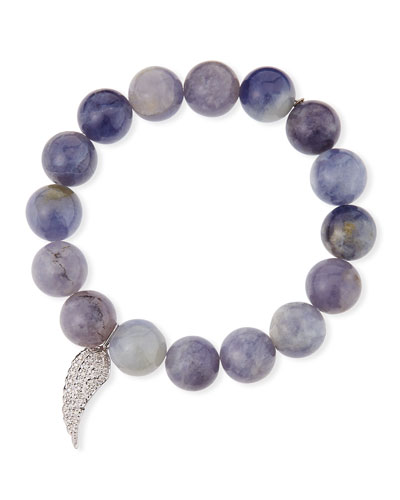 14k Diamond Wing & Iolite Bracelet