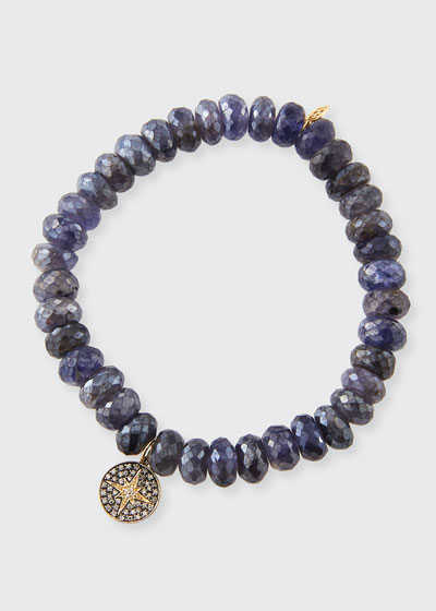 14k Small Starburst Diamond & Iolite Bracelet