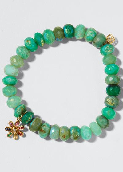 14k Rainbow Daisy & Chrysoprase Bracelet