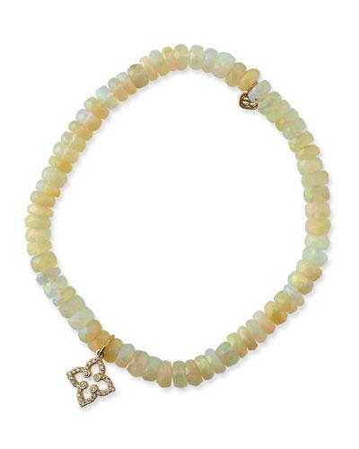 14k Moroccan Diamond & Opal Bracelet