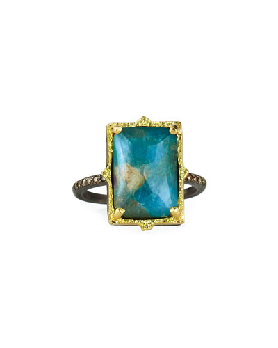 Old World Rectangular Triplet Ring, Size 6.5