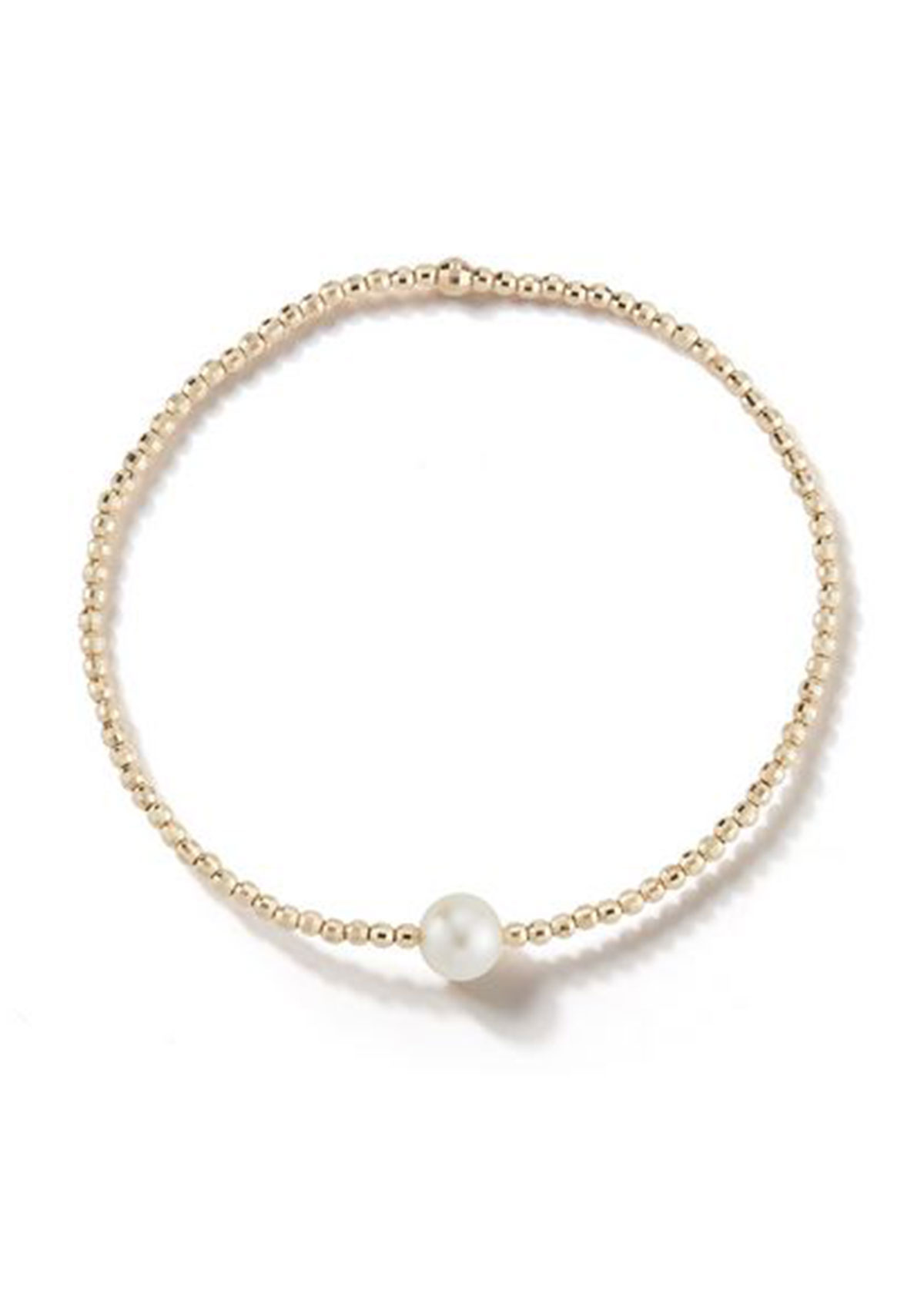 Mizuki Accessories 14K GOLD SINGLE-PEARL BRACELET