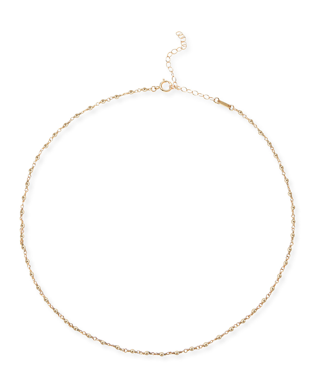 Mizuki Accessories 14K GOLD WRAPPED BEAD CHOKER NECKLACE