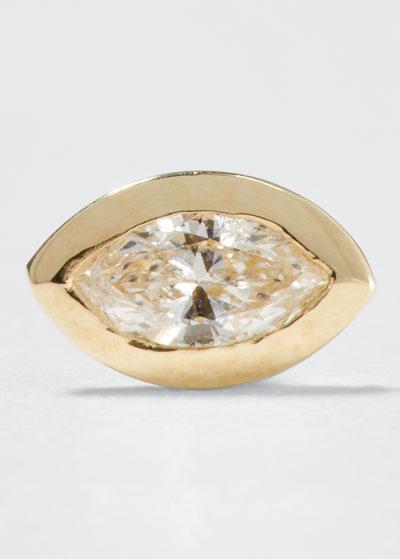 14k Diamond Marquise Single Stud Earring