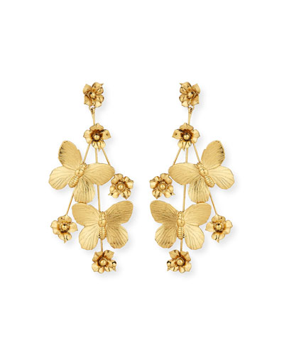 Flower & Butterfly Statement Earrings
