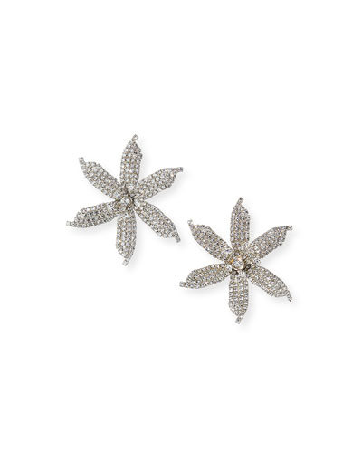 Laela Large Crystal Orchid Earrings