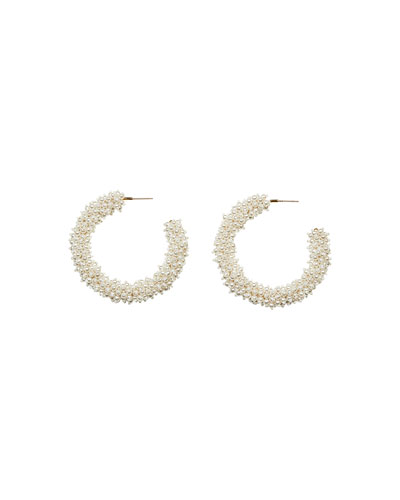 Taylor Hoop Earrings, White