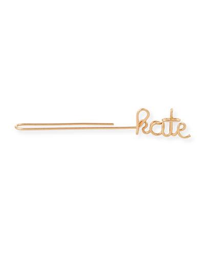 Personalized Single Wire Ear Cuff, 5 Letters