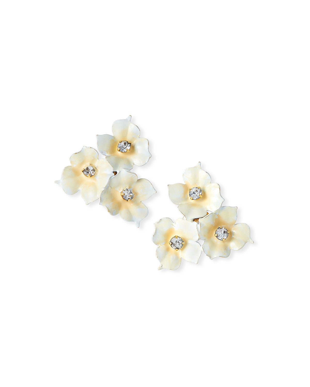 Jennifer Behr Accessories MADDIE TRIPLE FLOWER EARRINGS