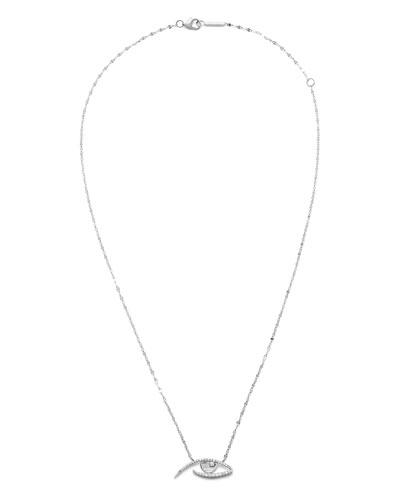 14k Diamond Pave Evil Eye Pendant Necklace