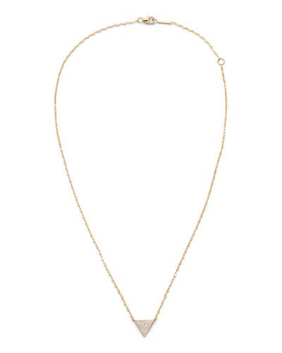 14k Diamond Triangle Pendant Necklace