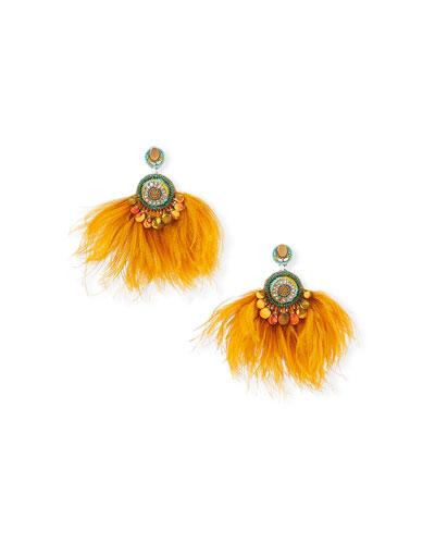 43dd98690 Lana Crystal Drop & Feather Fan Earrings