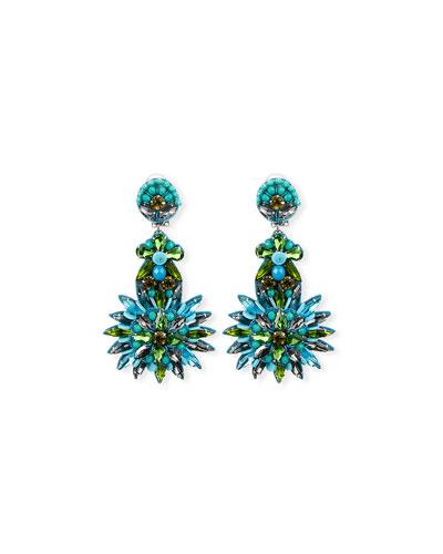 Tallaulah Bead & Crystal Drop Earrings