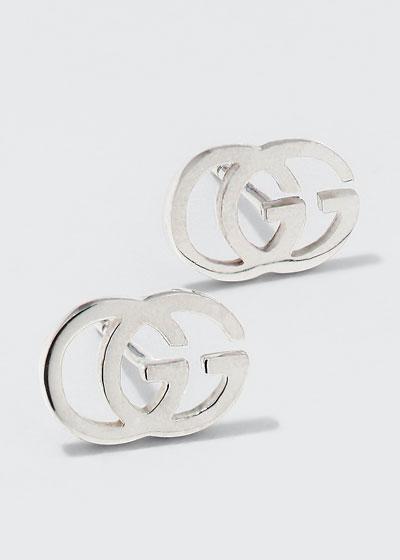 18K Gold Running G Stud Earrings
