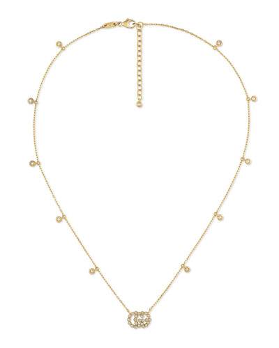 GG Running 18k Gold Diamond Necklace