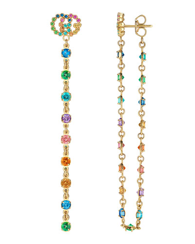 18k GG Running Long Pendant Earrings