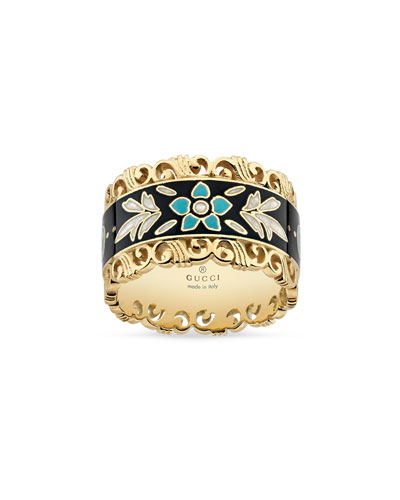 Icon Blooms Band Ring in 18K Gold, Size 6.75