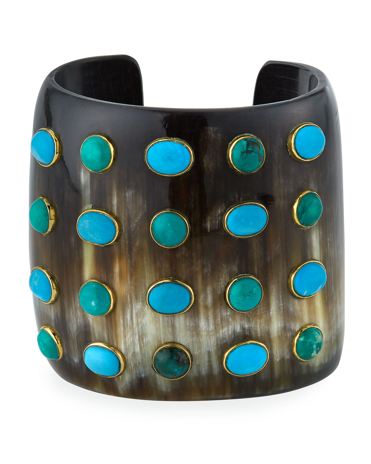 Ashley Pittman Accessories ONGOA TURQUOISE WIDE CUFF