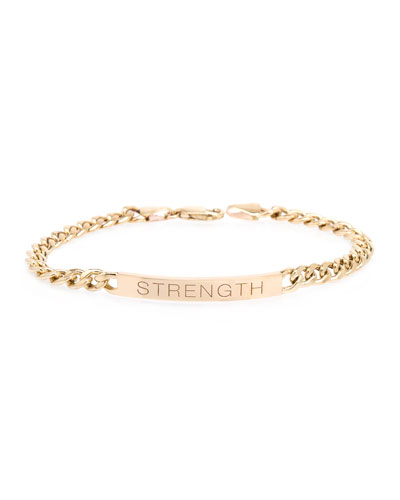14k Medium Curb-Chain STRENGTH Bracelet