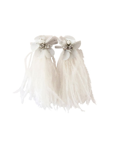 Haley Flower & Feather Earrings