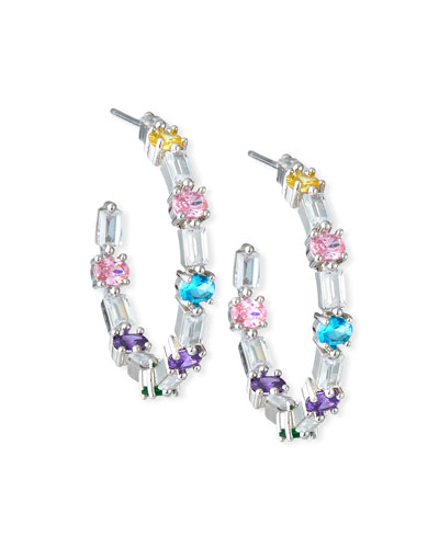 Ferris Wheel Hoop Earrings, Pastel Multicolor
