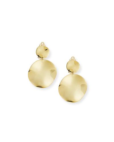 18k Small Wavy Snowman Clip-On Earrings