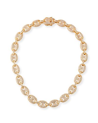 Toscano Pave-Link Necklace