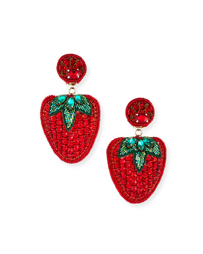 Les Fraises Clip-On Earrings