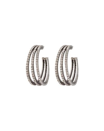 Lani Crystal Hoop Earrings