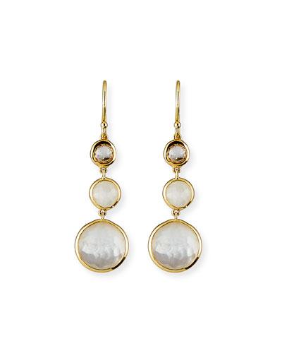 18k Lollipop® Three-Stone Drop Earrings