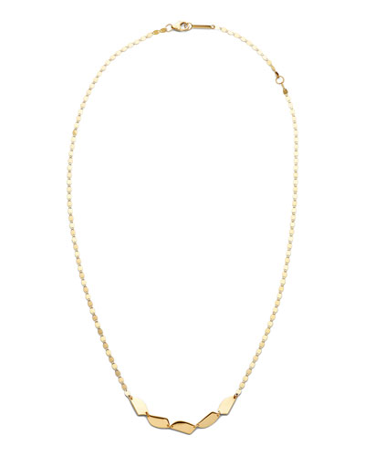 14k Gold 5-Shape Chain Necklace