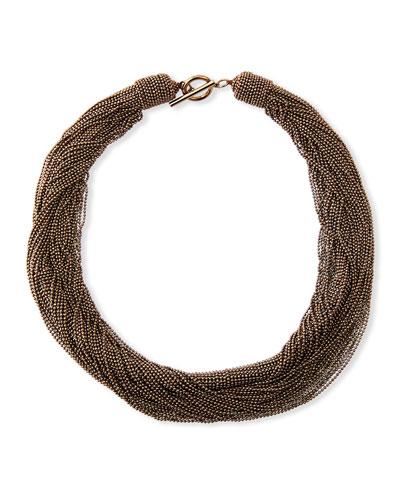 Twisted Monili Choker Necklace