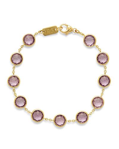 Lollipop Stone & Chain Bracelet in Amethyst