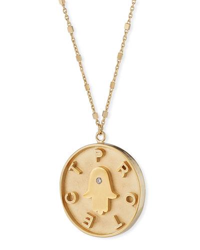 Kennedy Hamsa Diamond Necklace