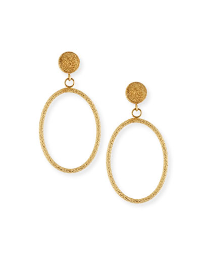 Florentine 18k Small Oval-Drop Earrings