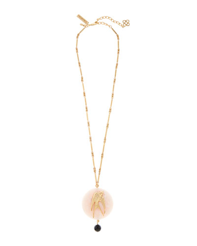 Swallow-Stone Long Pendant Necklace