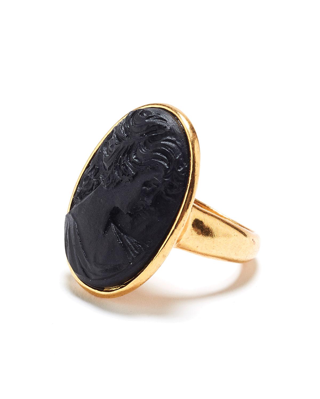 Oscar De La Renta Jewelry CARVED OVAL RING