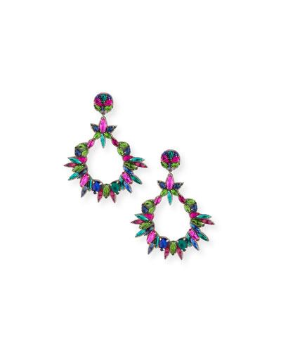 Oversized Crystal Statement Earrings