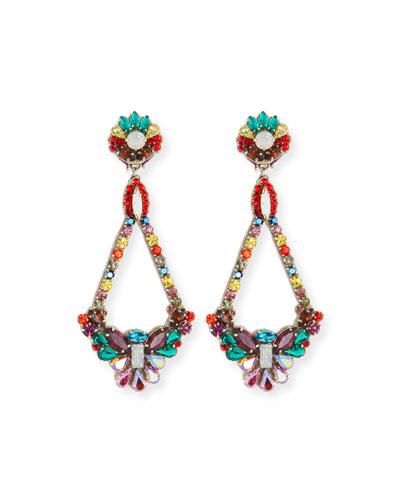 Handmade Multicolor Crystal Clip-On Earrings