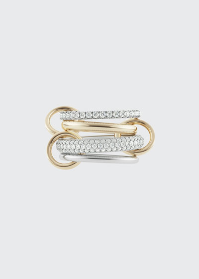 Vega Blanc Two-Tone Ring w/ Diamonds